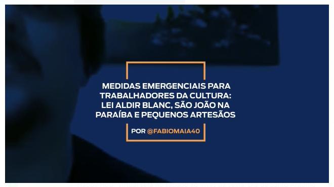 Medidas emergenciais para trabalhadores e trabalhadoras da cultura